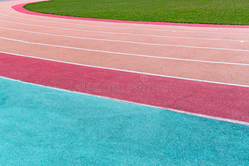 Running track with marking royalty free stock photo