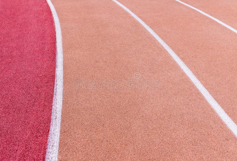 Running track with marking royalty free stock image