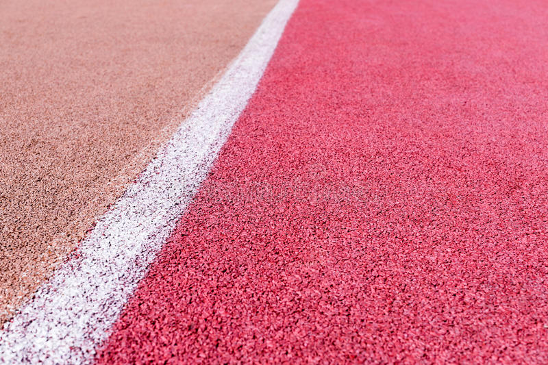 Running track with marking stock photo