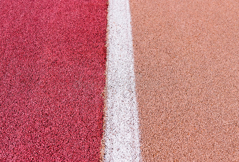 Running track with marking stock photography