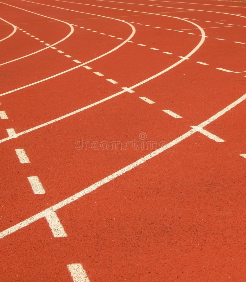 Running Track Markings royalty free stock images
