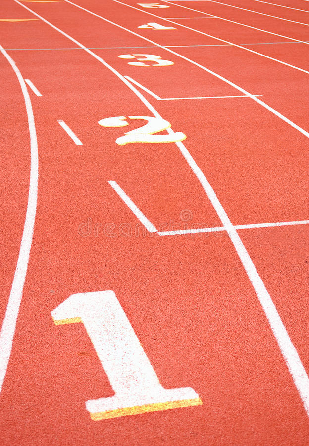 Running Track Numbers royalty free stock photo