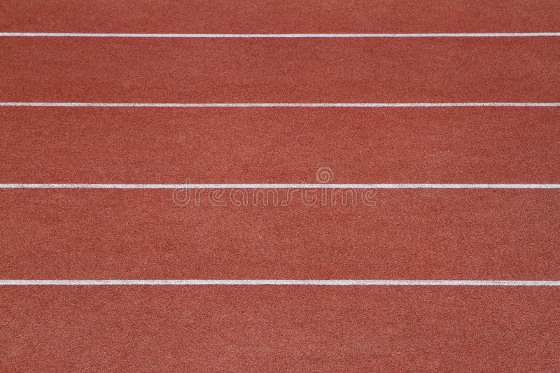 Running track. At the stadium. Top view stock images