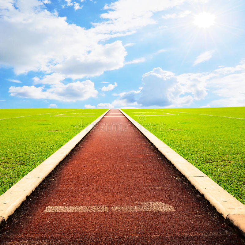 Free Running Track With Sky Cloud Royalty Free Stock Images - 18933689
