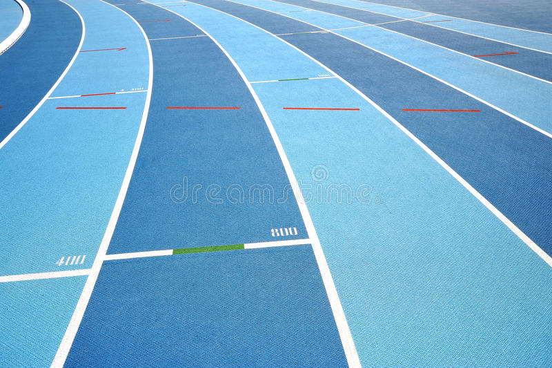 The running tracks stock photos