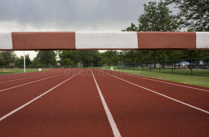Download Running tracks stock image. Image of competition, barrier - 26197521