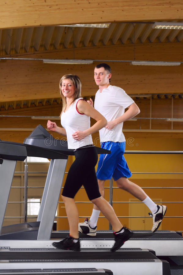 Download Running on the treadmill stock image. Image of healthy - 13544281