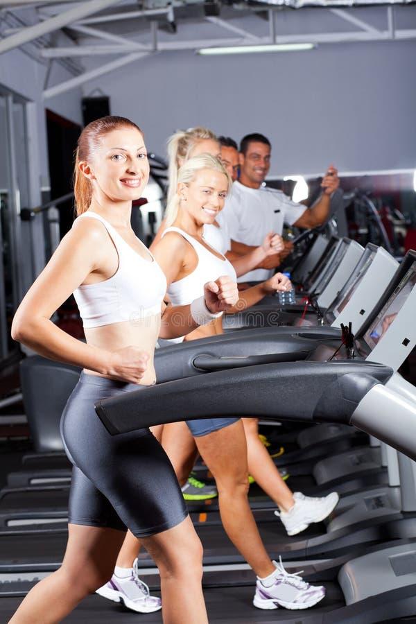 Download Running on treadmill stock image. Image of machine, european - 24761605