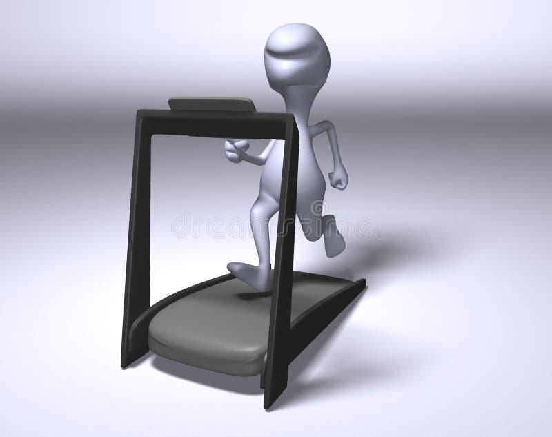 Download Running on a treadmill stock illustration. Illustration of equipment - 3790175
