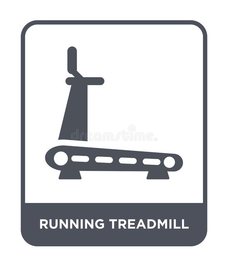 Running treadmill icon in trendy design style. running treadmill icon isolated on white background. running treadmill vector icon. Simple and modern flat symbol vector illustration