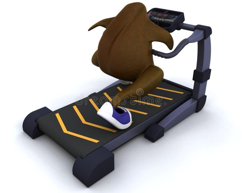 Running Treadmillkalkon Arkivfoto