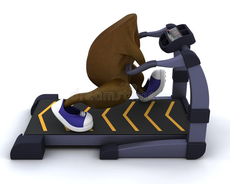 Running Treadmillkalkon Arkivbilder