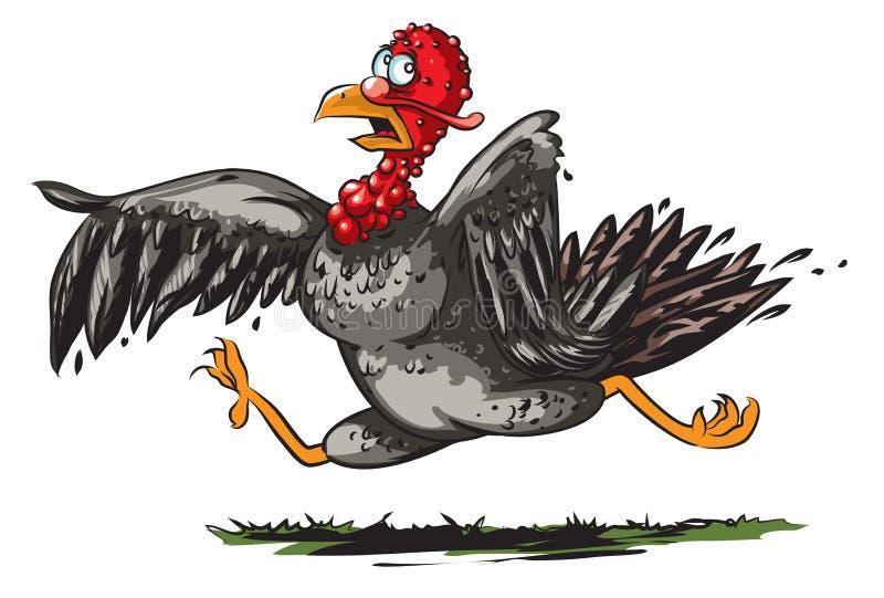 Running turkey. Vector illustration of funny running turkey vector illustration