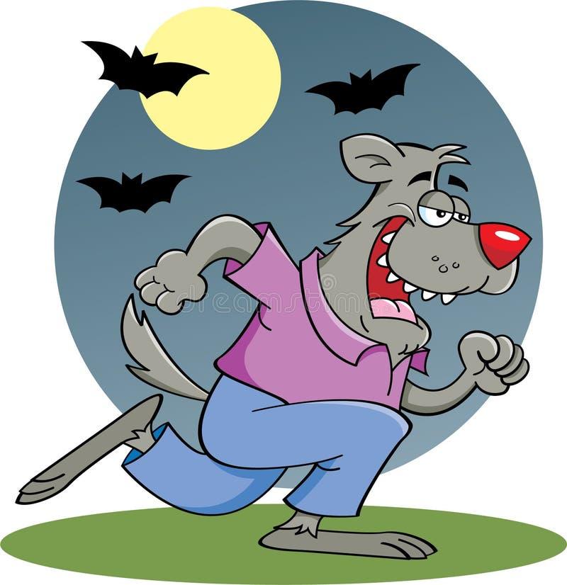 Download Running Werewolf In Moonlight Stock Vector - Illustration of treat, vector: 26005691