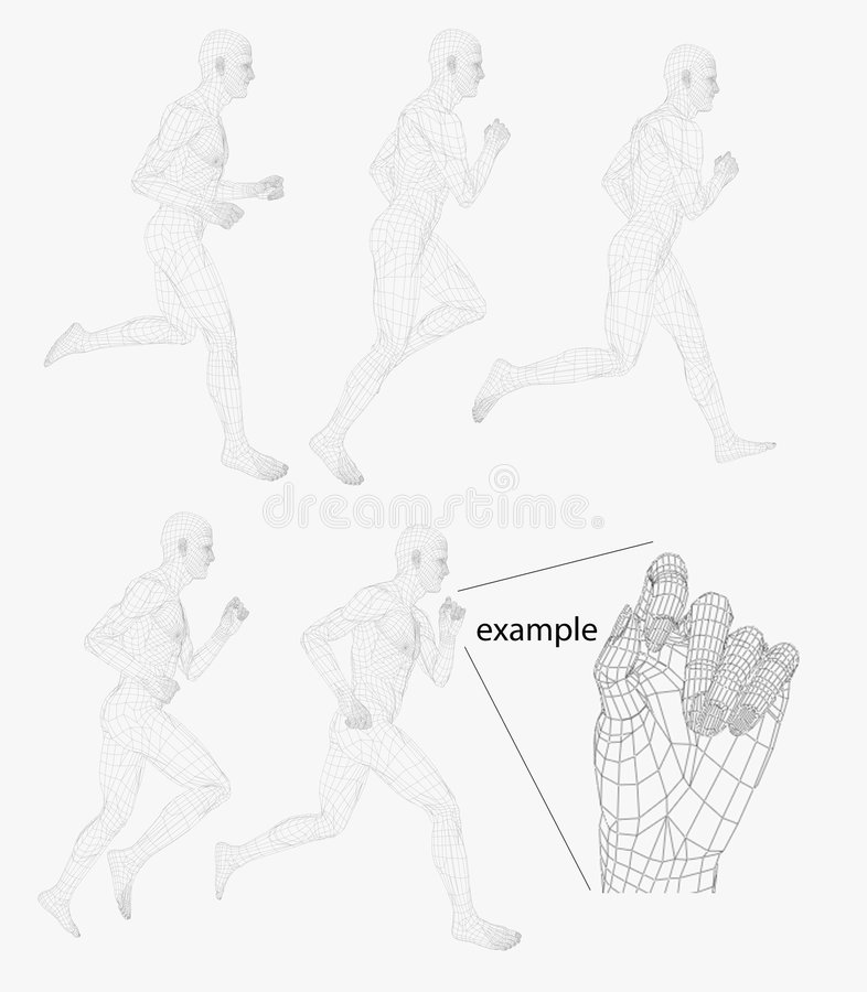 Running wire man royalty free illustration