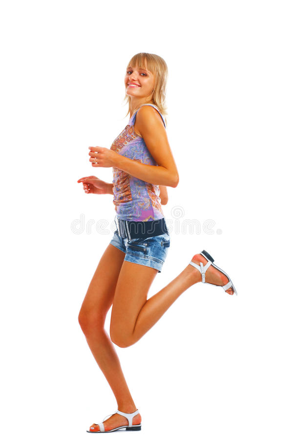 Download Running woman stock image. Image of model, shape, isolated - 11688475