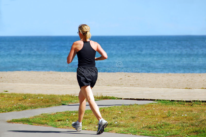 Running woman royalty free stock photos