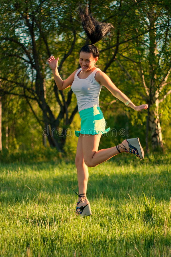 Download Running woman stock photo. Image of nature, woman, outdoors - 14684666
