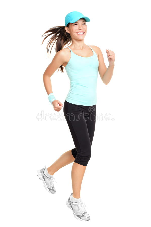 Running Woman Isolated Royalty Free Stock Photos