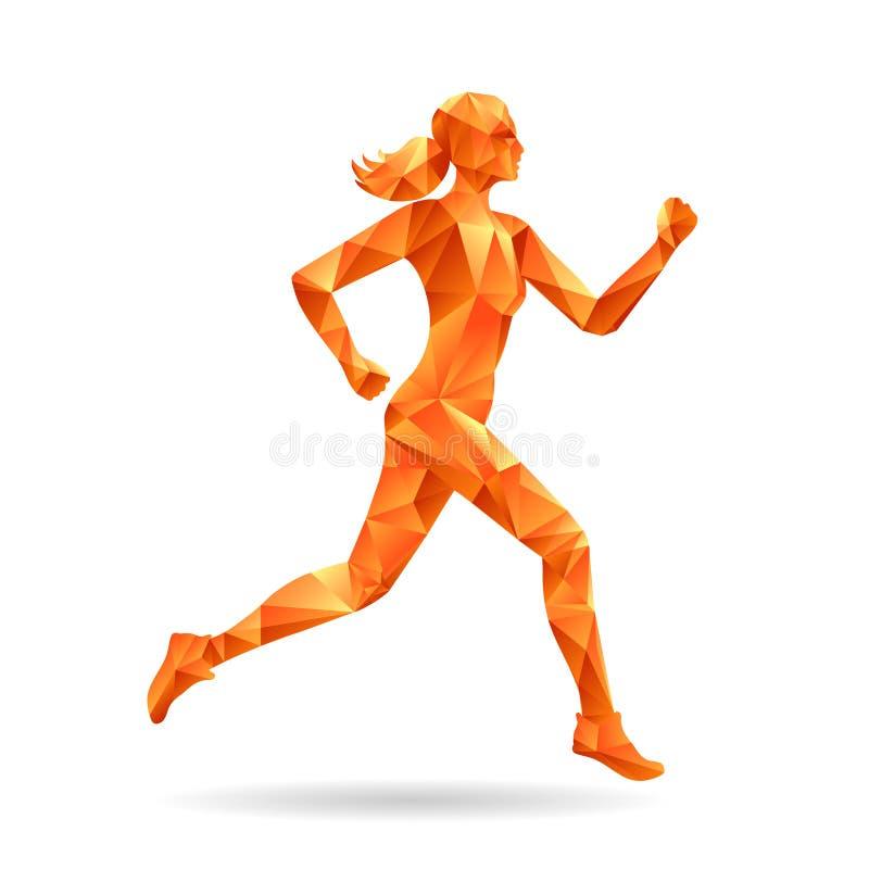 Running woman silhouette vector illustration
