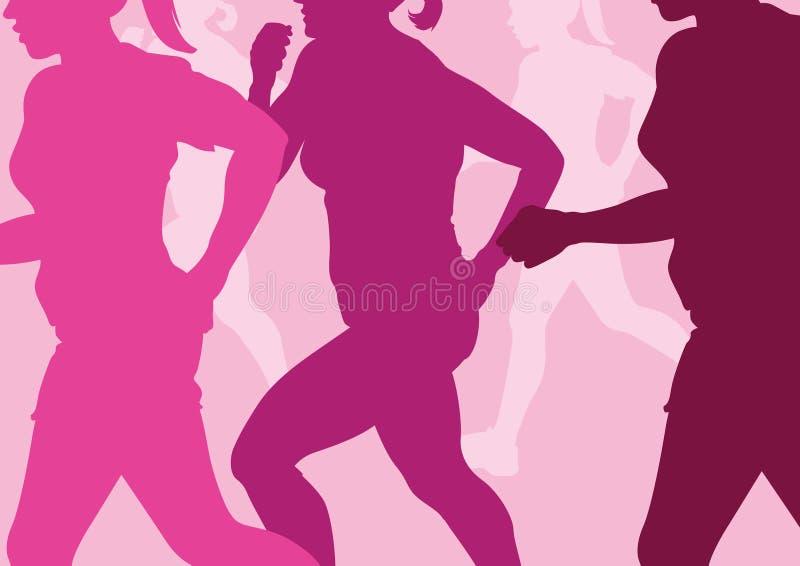 Running Women Abstract vector illustration