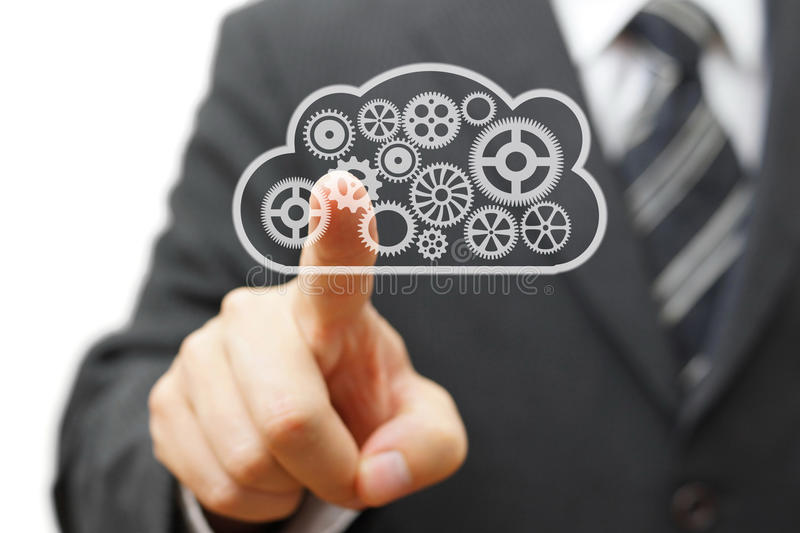 Running your business in cloud royalty free stock photos