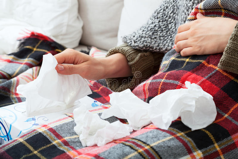 Runny nose stock images