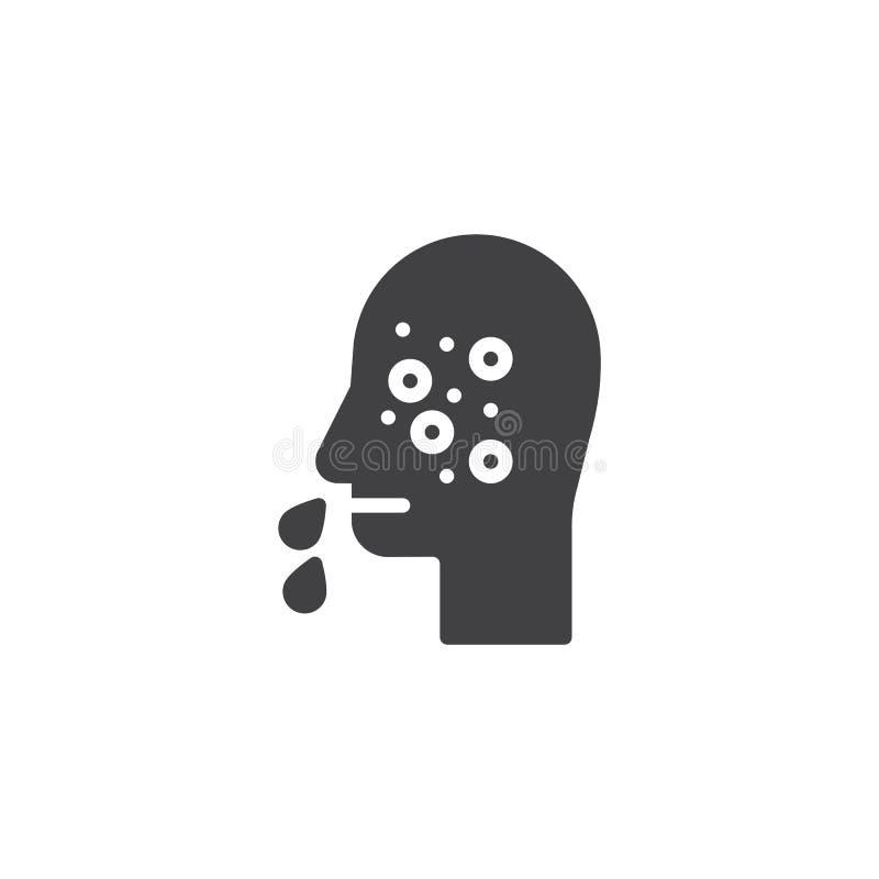 Runny nose vector icon vector illustration