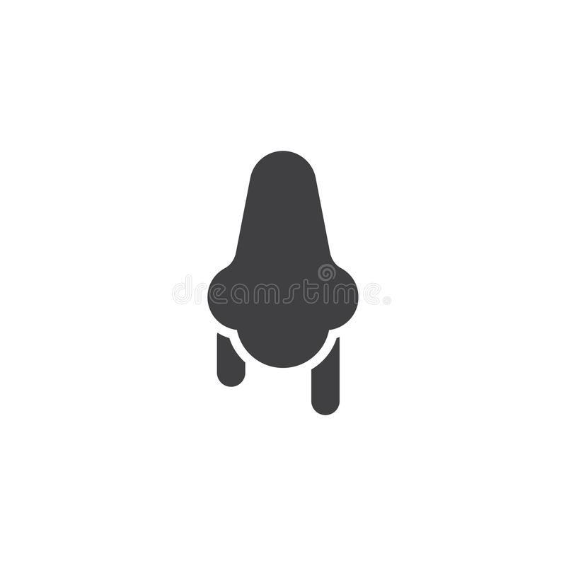 Runny nose vector icon royalty free illustration