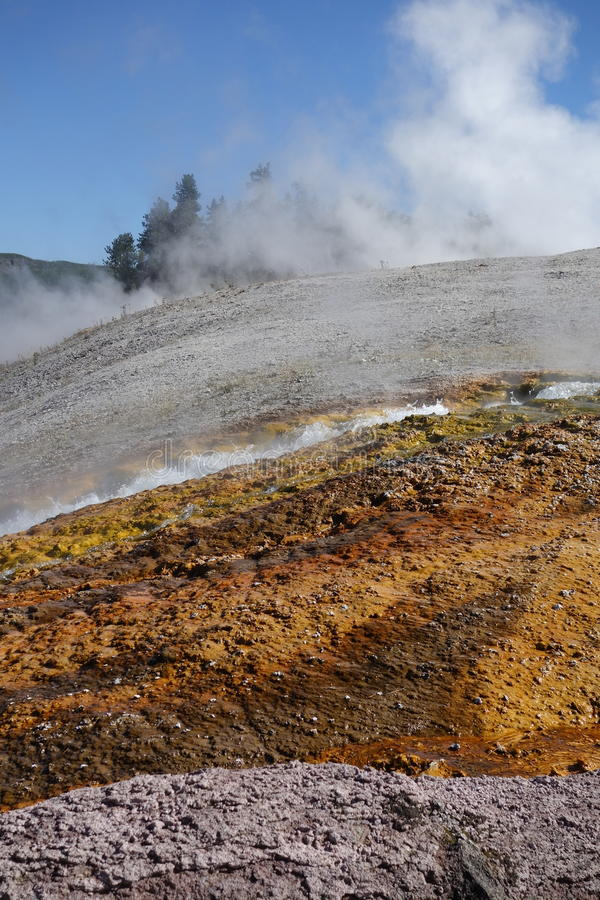 Runoff, Grand Prismatic Spring royalty free stock image