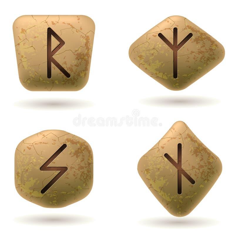runor royaltyfri illustrationer