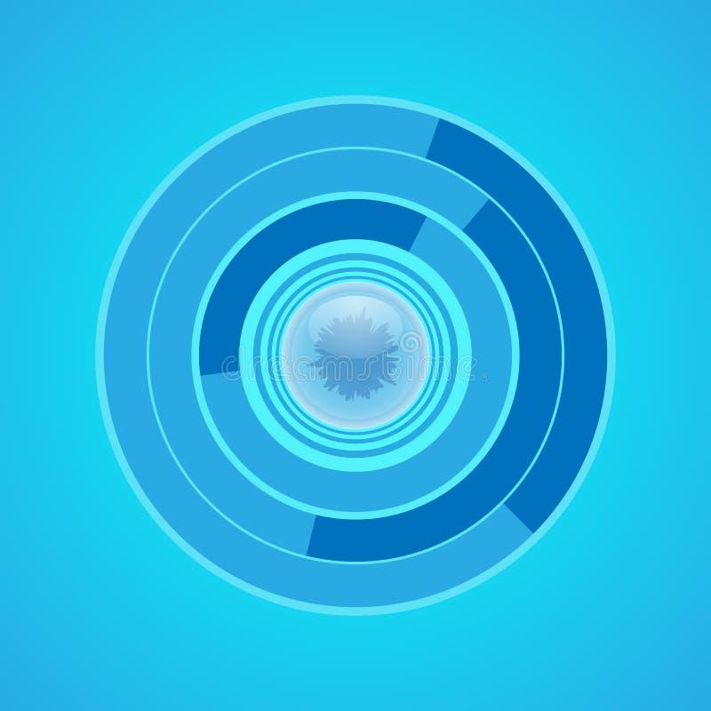 Runt biometric filnamn för vektor Futuristisk tenology royaltyfri illustrationer
