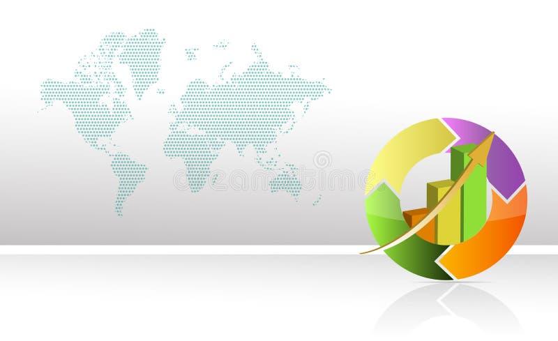 runt färgrikt för affärsdiagram stock illustrationer