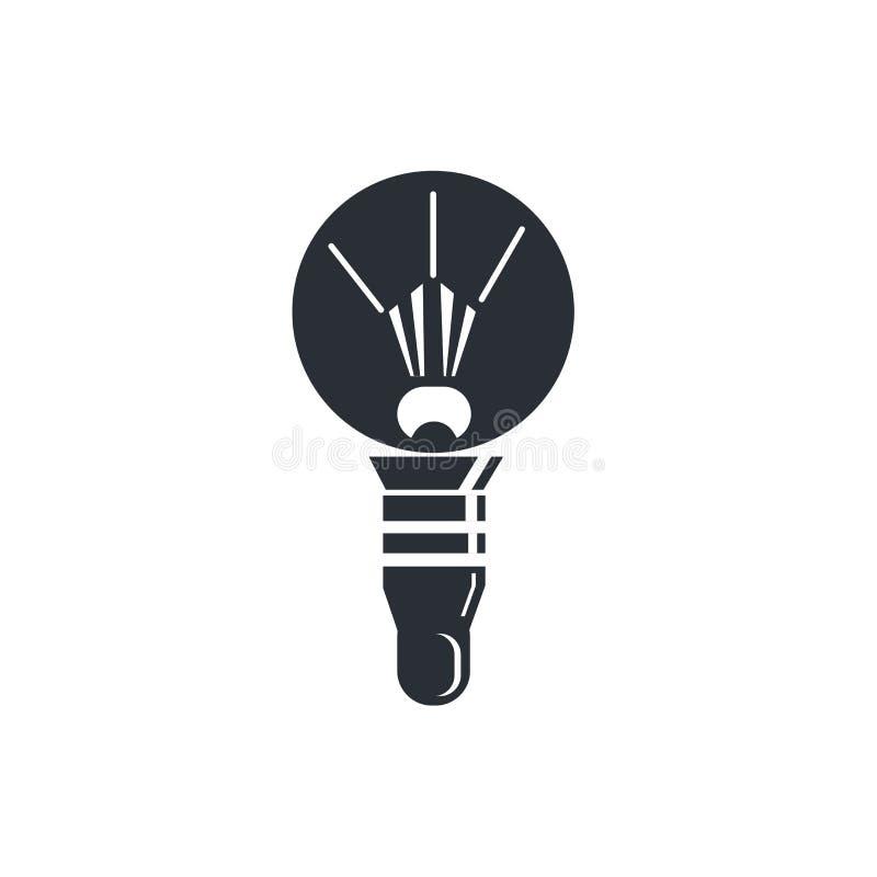 Runt för symbolsvektor för ljus kula som tecken och symbol isoleras på vit bakgrund, runt logobegrepp för ljus kula royaltyfri illustrationer