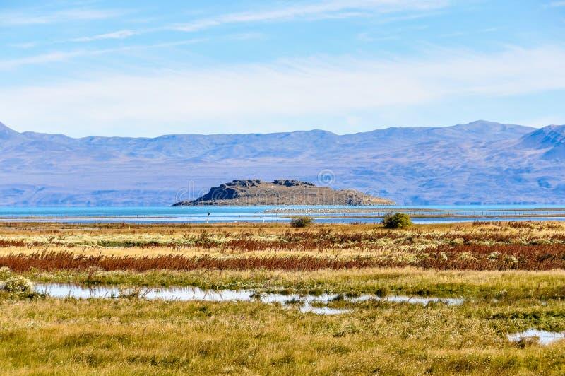 Runt om El Calafate, Patagonia, Argentina royaltyfri bild