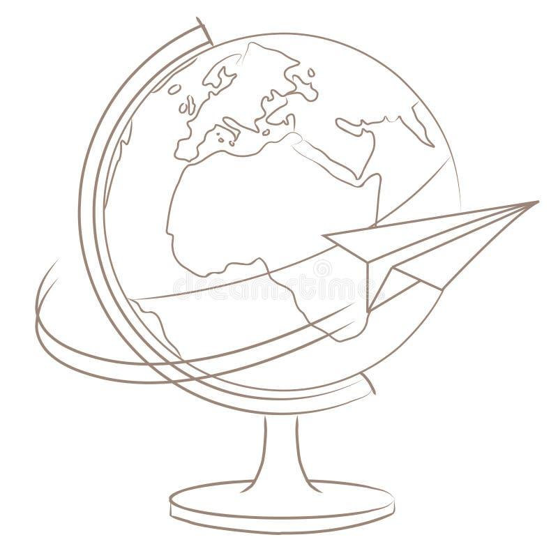 runt om loppvärlden royaltyfri illustrationer