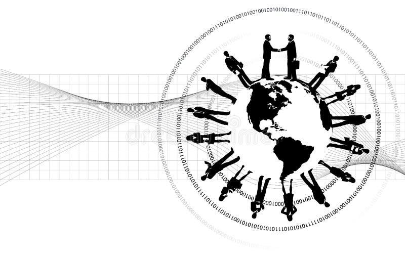 runt om näringslivet vektor illustrationer