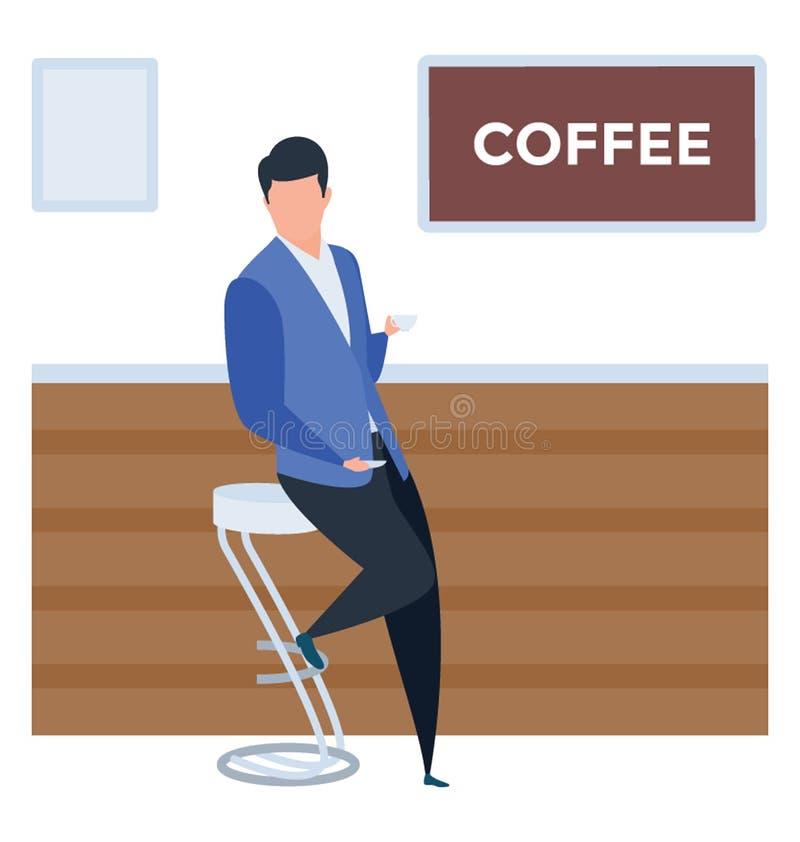 runt om nya bönakaffekoppar shoppa royaltyfri illustrationer