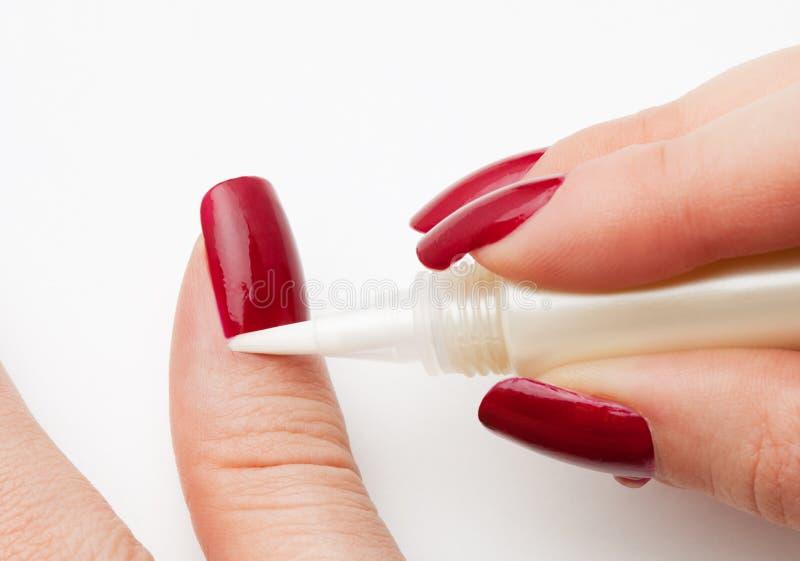 runt om omsorg spikar nagelbandet hud royaltyfri fotografi