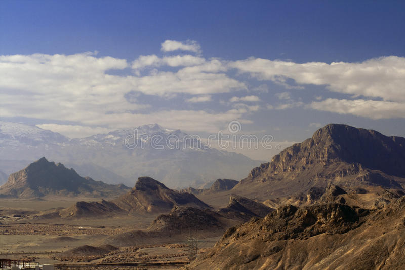 runt om yazd för landsrock arkivbild