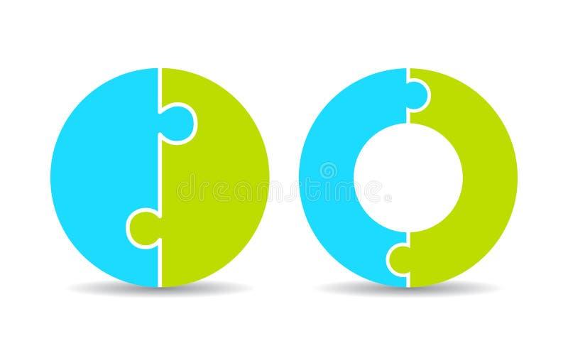 Runt pusseldiagram vektor illustrationer