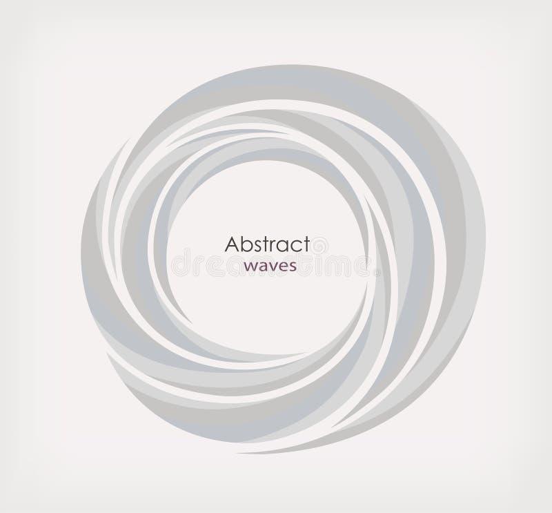 Runt ram eller baner med stället för text Abstrakt virvelcirkelbakgrund vektor illustrationer