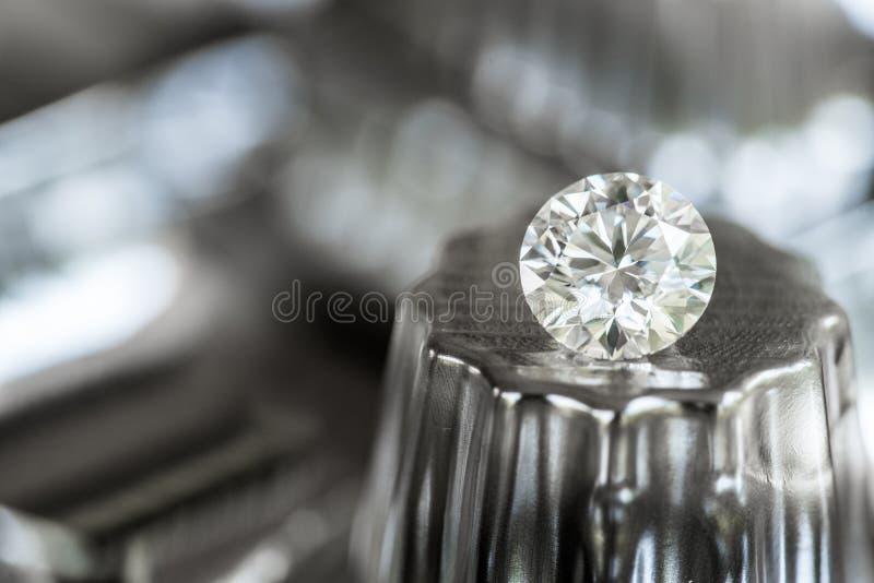 Runt snitt för diamant fotografering för bildbyråer