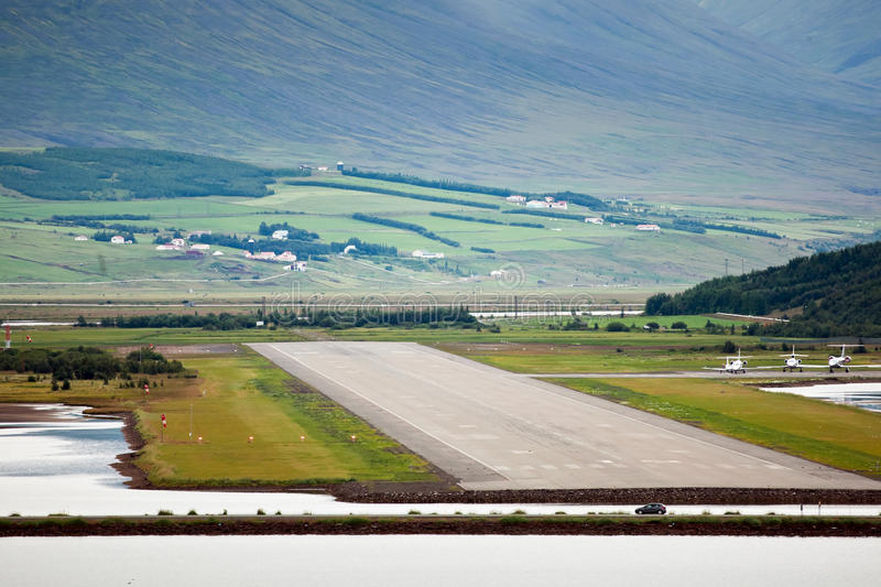 Download View Of Airport Runway From Sea, Akureyri - Iceland Stock Photo - Image: 16331610