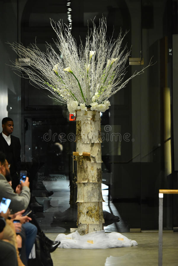 Runway decoration at the ANTINOO Menswear FALL 2017 Metamorphosis Collection royalty free stock photography