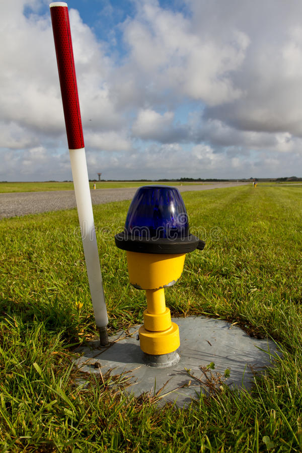 Runway light stock photography