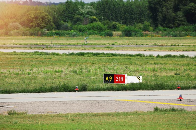 Runway number royalty free stock photography