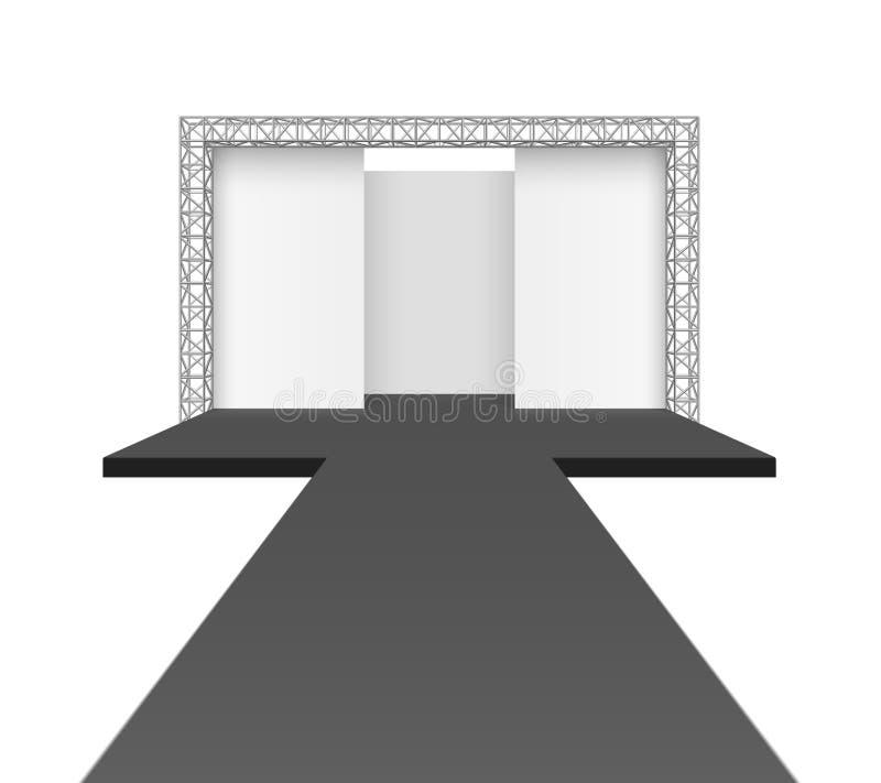 Runway podium stage vector illustration