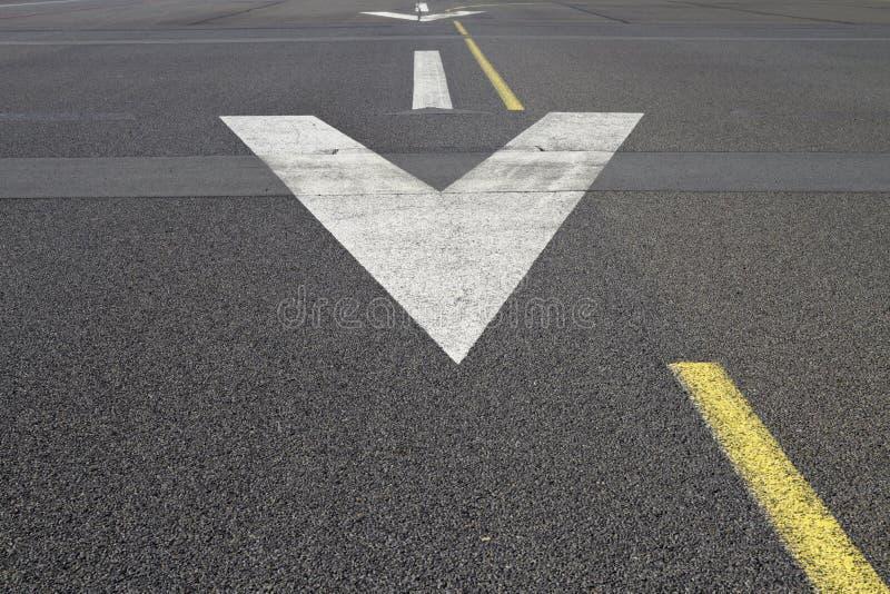 Runway surface arrow royalty free stock photo