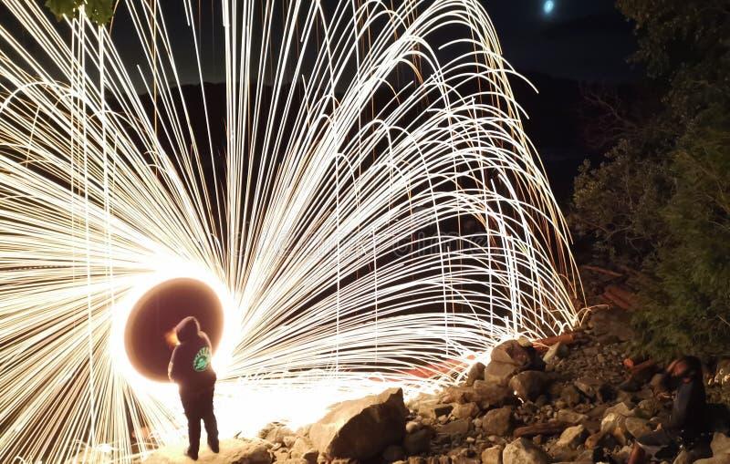 Ruota del fuoco fotografia stock libera da diritti